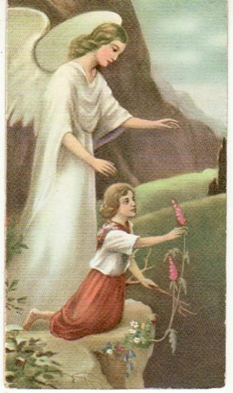 Devocionalija. Šv. paveikslėlis, kurį išsivežė iš Lietuvos. Su kunigo Jono Petrėno įrašu