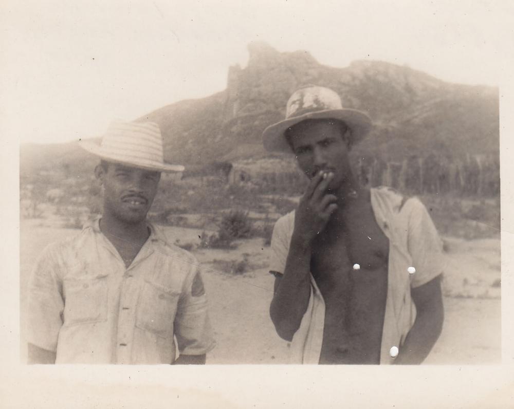 Du jauni darbininkai. Brazilija, apie 1946–1950 m.