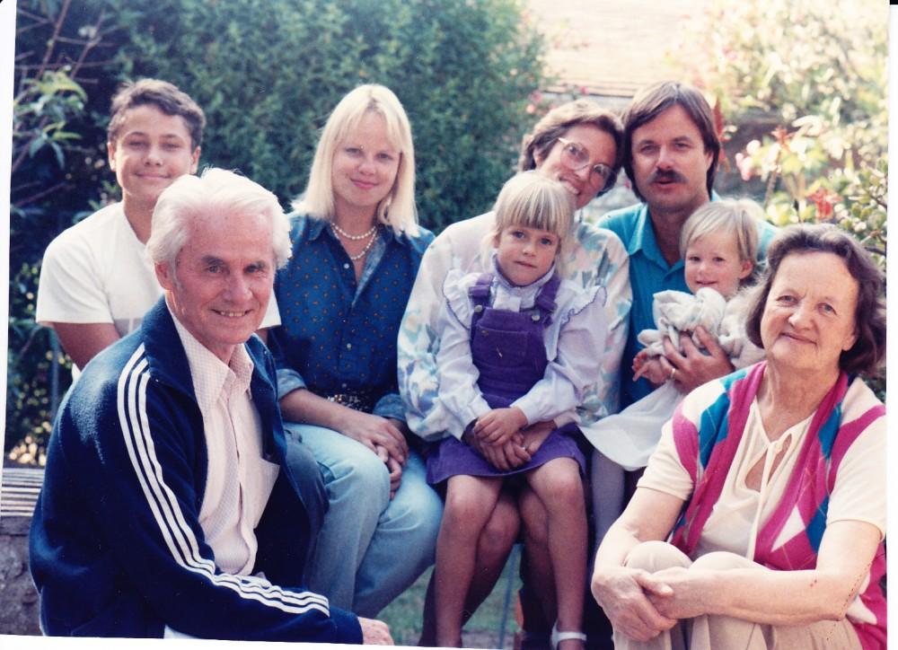 Elenos ir Edmundo Arbų šeima. 1980 m.