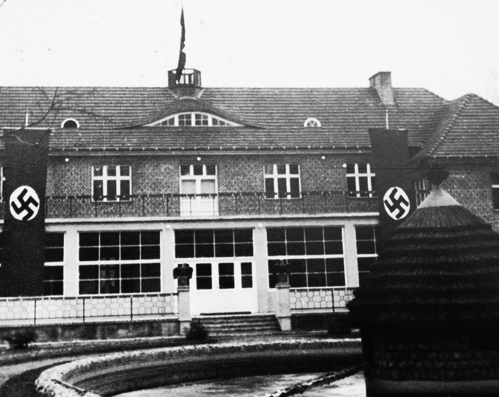 Esesininkų komendantūra. Pastatyta 1940 m.