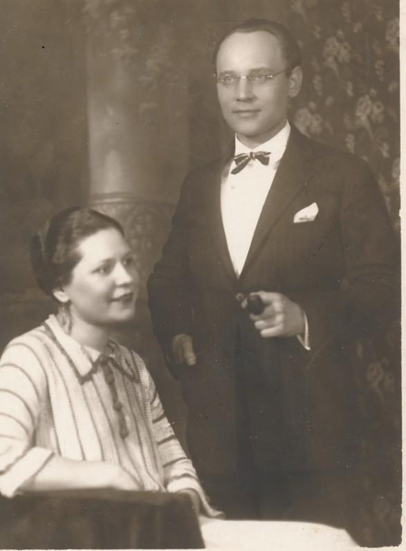 Faustas Kirša su Marijona Rakauskaite. Kaunas. 1926 m.