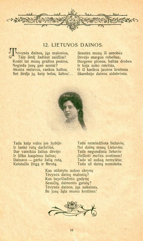 """Fragmentas iš 1920 m. """"Pavasario balsų"""" leidimo…"""