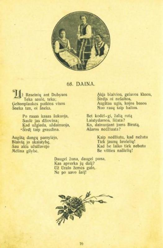 """Fragmentas iš 1920 m. """"Pavasario balsų"""" leidimo"""