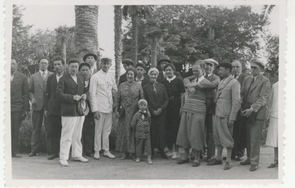 I. Šeinius (3-ias iš dešinės) žurnalistų kelionėje po SSSR. 1934 m.
