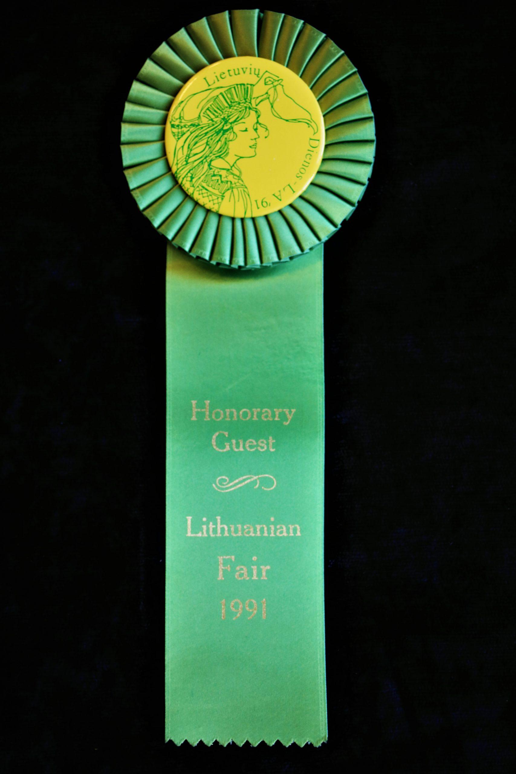 1991 m. Lietuvių Dienų šventės Los Andžele ženklelis