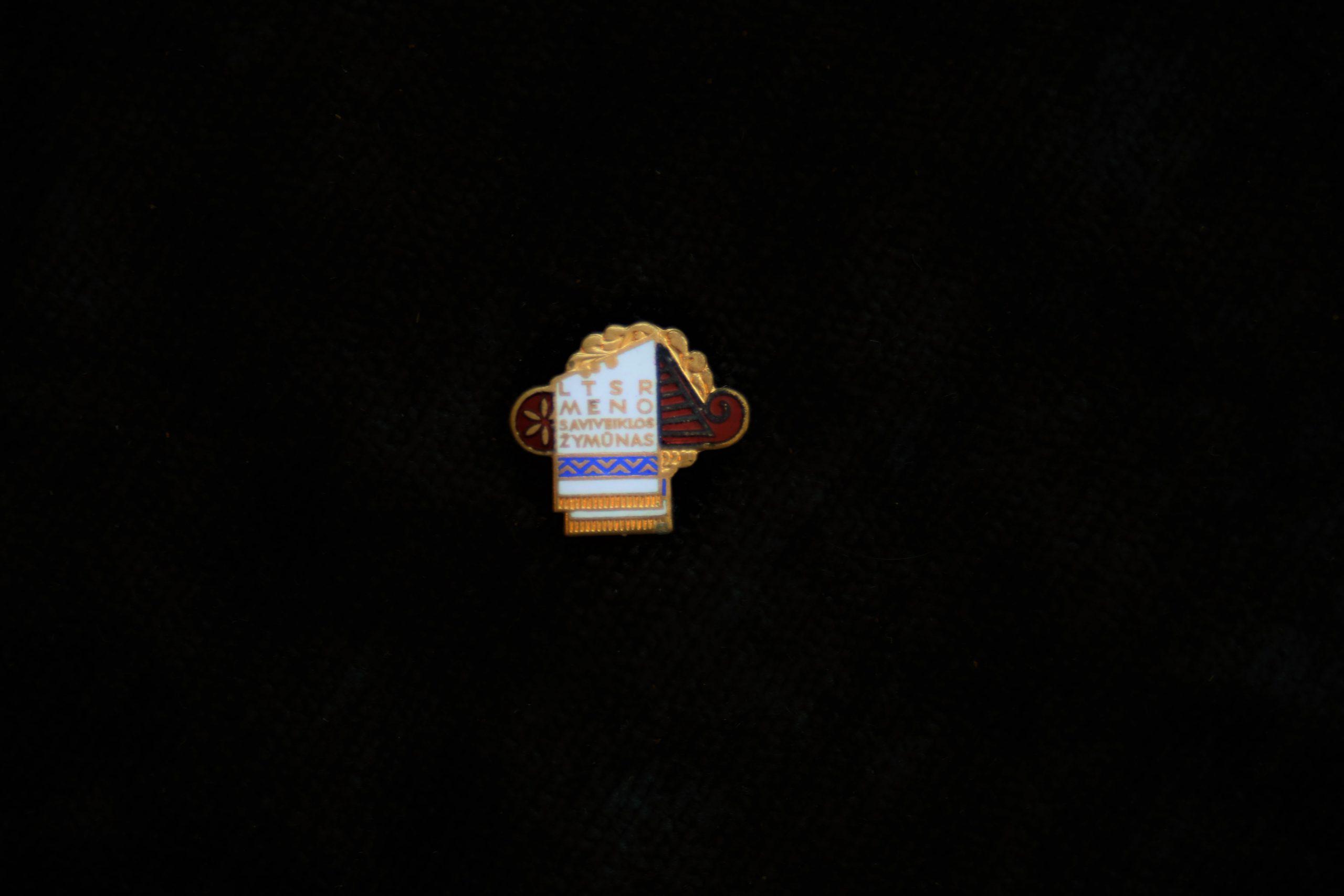 LTSR meno saviveiklos žymūno ženklelis