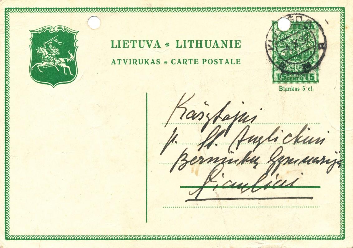 Ievos Simonaitytės atvirlaiškis Stasiui Anglickiui..