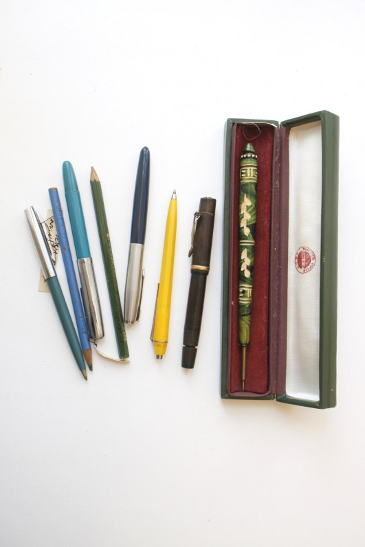 Ievos Simonaitytės rašikliai, saugomi Maironio lietuvių literatūros muziejaus fonduose