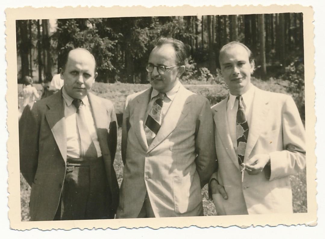 J. Grinius, Z. Ivinskis, P. Jurkus. Vokietija, apie 1948 m.