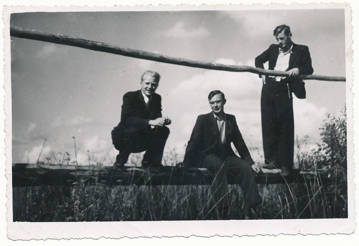 J. Jurkus, P. Jurkus, V. Mačernis. 1940 m.