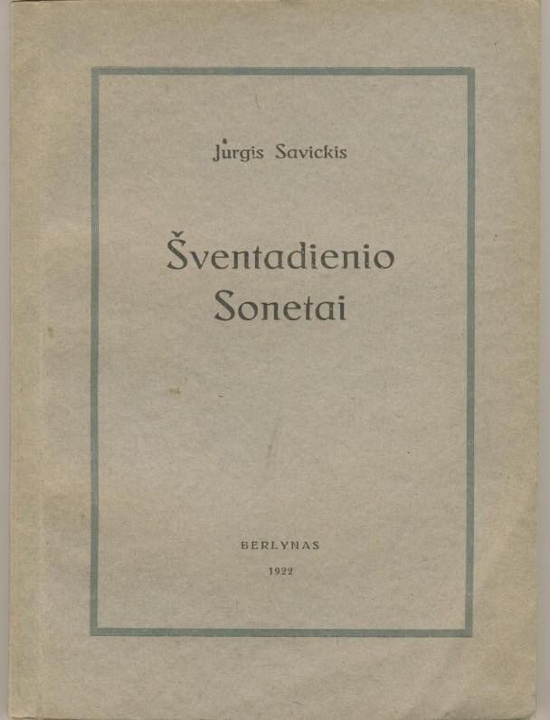 J. Savickio pirmoji novelių knyga