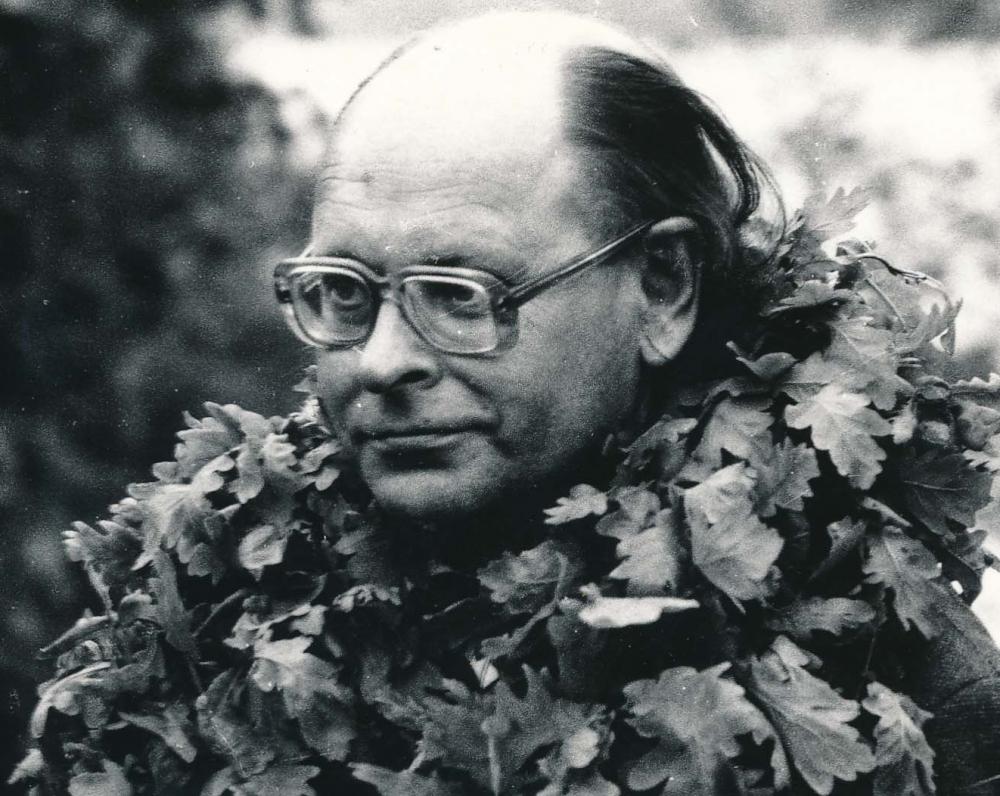 J. Strielkūnas – 1991 m. Poezijos pavasario laureatas. A. Urbano fotografija