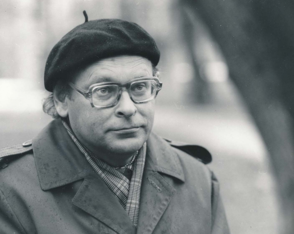 J. Strielkūnas Klaipėdoje. 1985 m. B. Aleknavičiaus fotografija