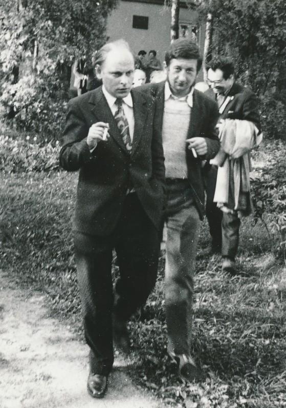 J. Strielkūnas ir J. Kunčinas Palemone. 1971 m.