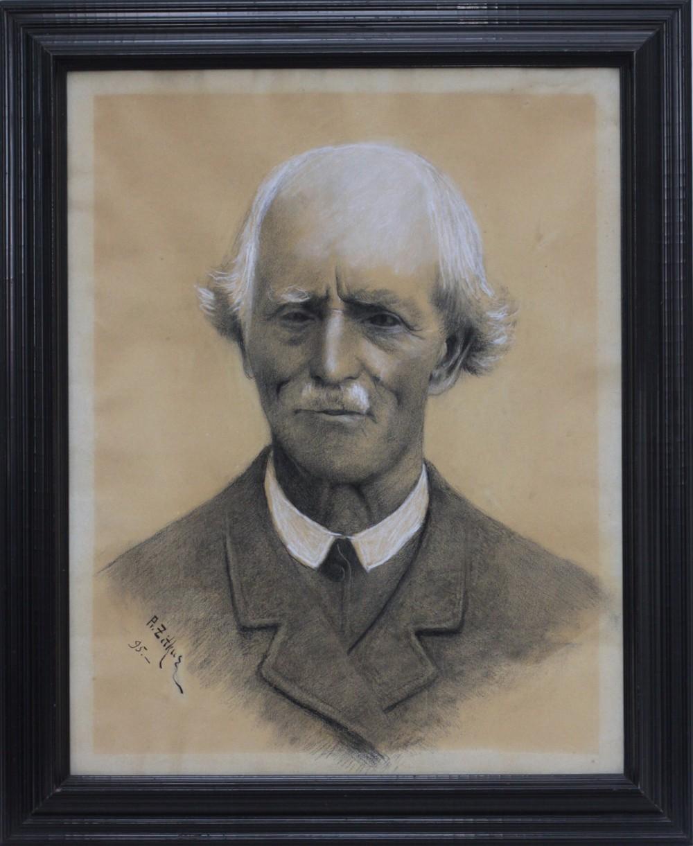J. Tumo-Vaižganto tėvo Anupro Tumo portretas. Dail. P. Žitkus. 1895 m.