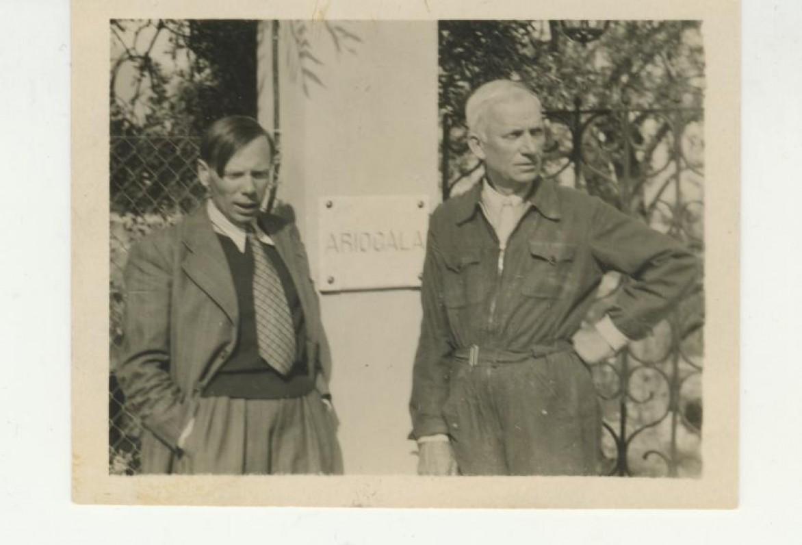 Jonas Aistis ir J. Savickis. Prancūzija, 1943 m.