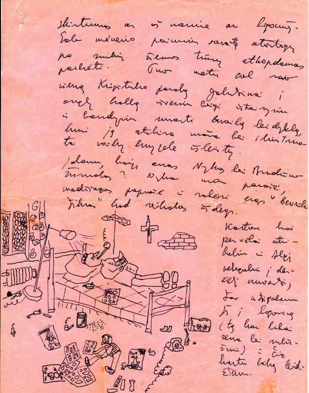 Juliaus Kaupo laiško Henrikui Nagiui fragmentas