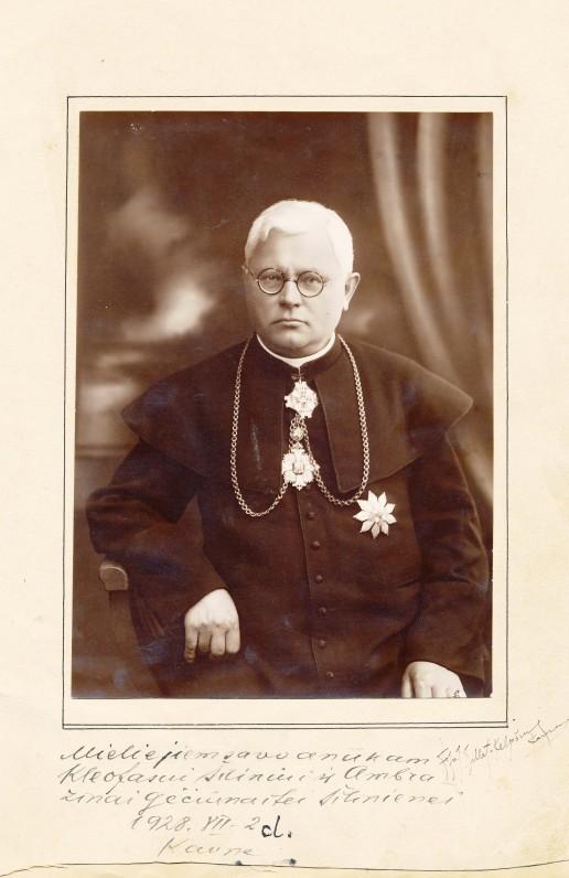 Juozas Tumas-Vaižgantas. Kaunas, 1928 m. J. Tallat-Kelpšienės nuotrauka