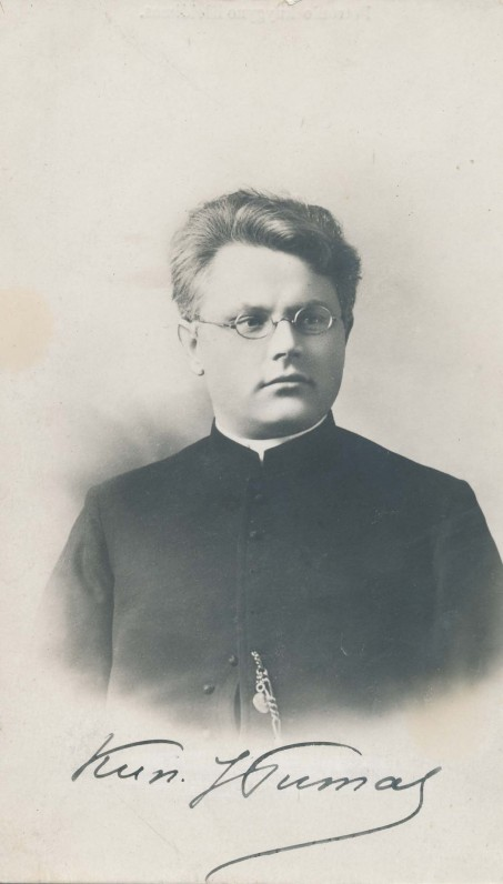 Juozas Tumas-Vaižgantas. Vilnius, 1908 m.