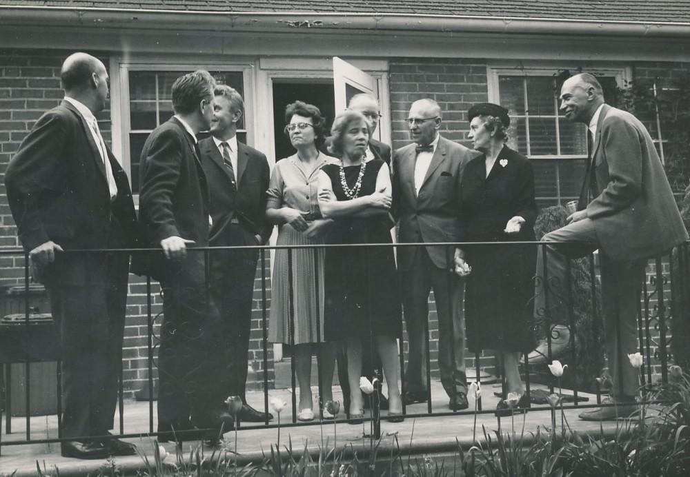 Just. Marcinkevičiaus viešnagė JAV. 1963 m.