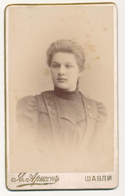 Juzefa Mikuckaitė. Šiauliai, 1899 m.