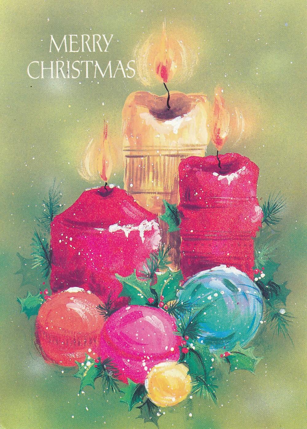 K. Barėno Kalėdų ir Naujųjų metų sveikinimas A. ir S. Santvarams. Didžioji Britanija, 1985 m.