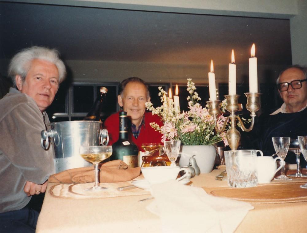 K. Ostrauskas, A. Nyka-Niliūnas ir V. Kavolis. JAV, 1988 m.