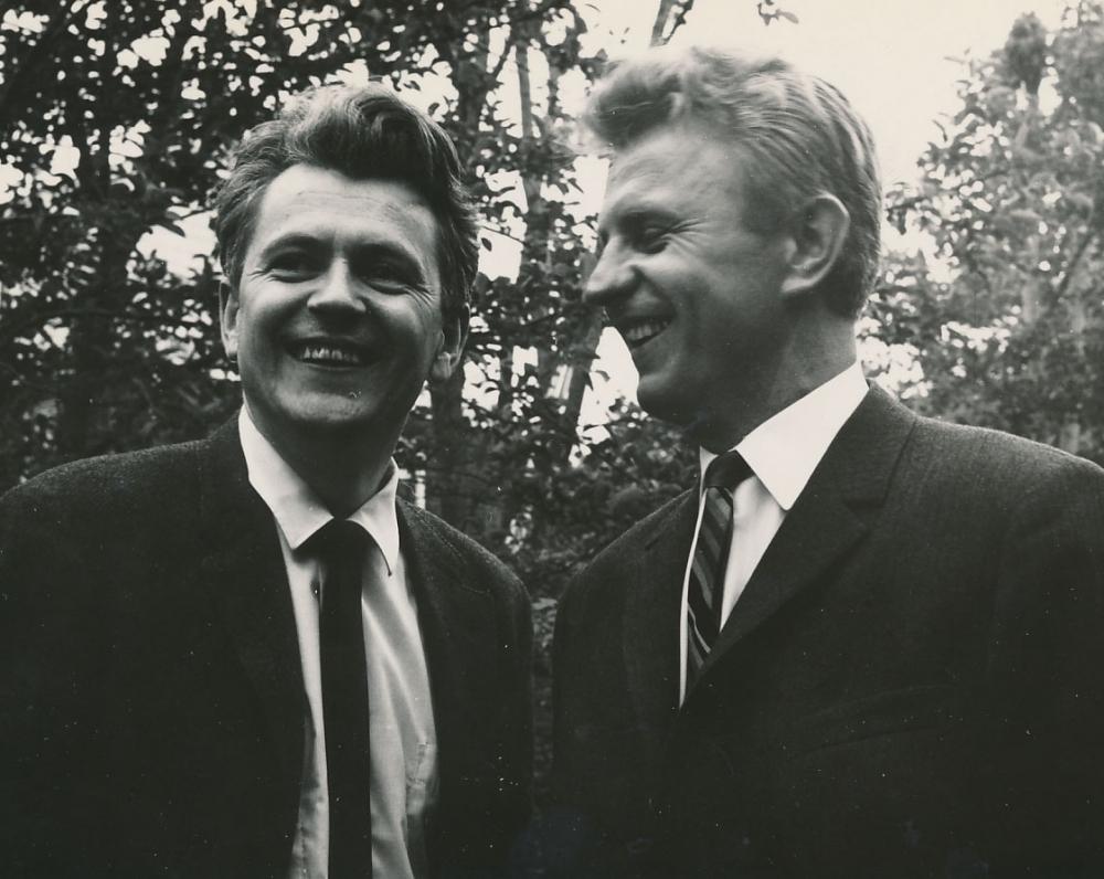 K. Ostrauskas ir Just. Marcinkevičius. JAV, 1963 m.
