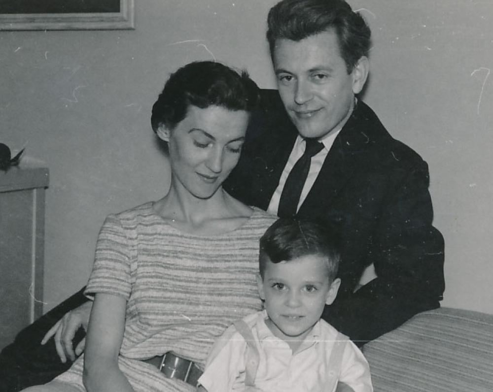 K. Ostrauskas su šeima. JAV, 1960 m.