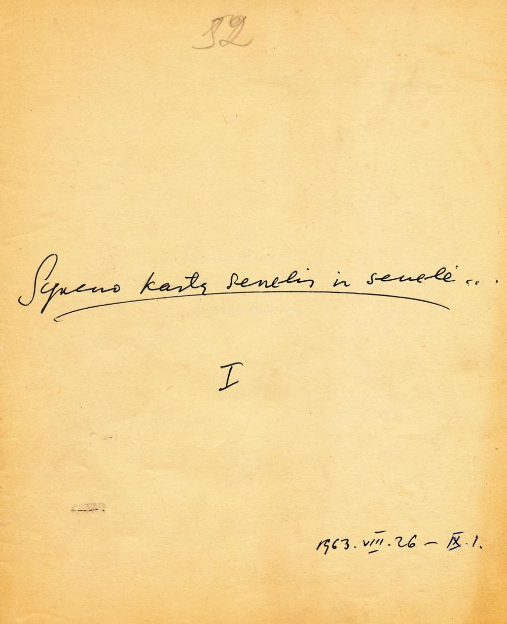 K. Ostrausko rankraštinio sąsiuvinio viršelis