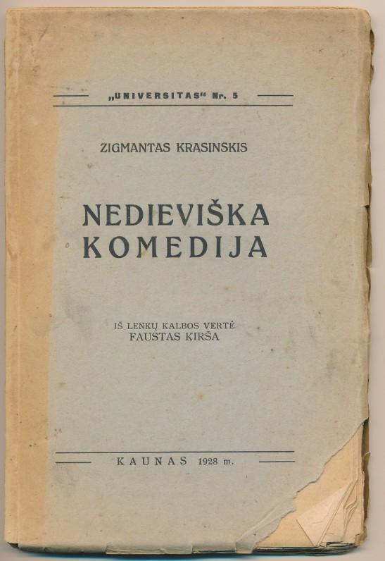 Kaunas. 1928 m. Vertė F. Kirša