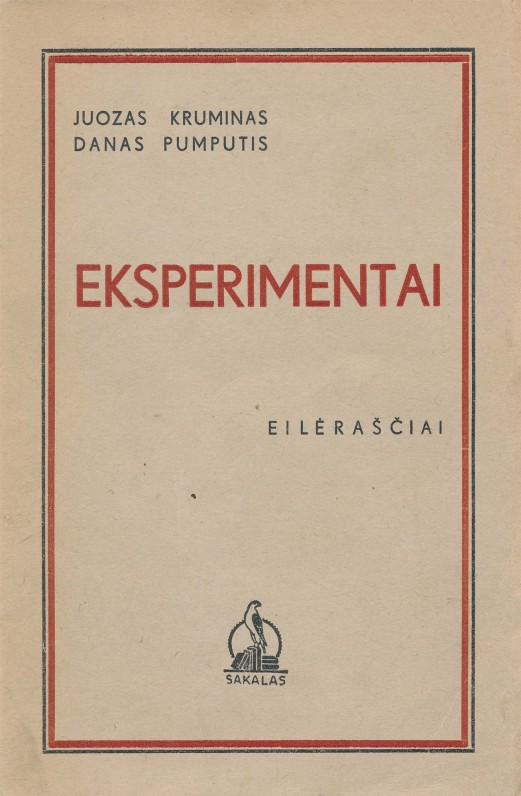 Kaunas. 1939 m. Eilėraščiai rašyti kavinėje, lankytojų nurodytomis temomis. Jauni poetai norėjo įrodyti, kad įkvėpimas nebūtinas.