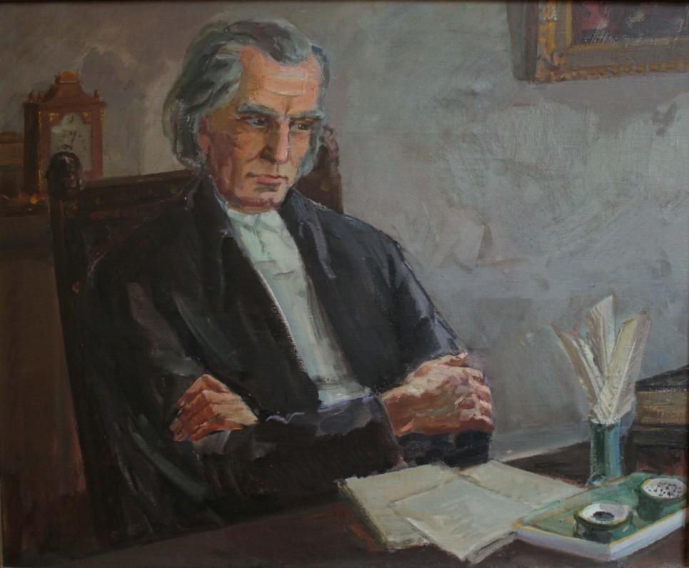 Kristijonas Donelaitis. Dail. Petras Stauskas. 1960 m.