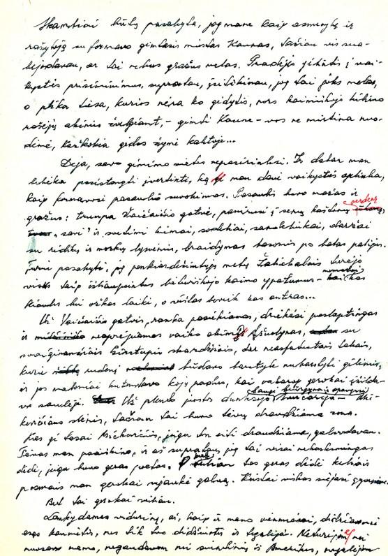 L. Jacinevičiaus autobiografijos rankraštis