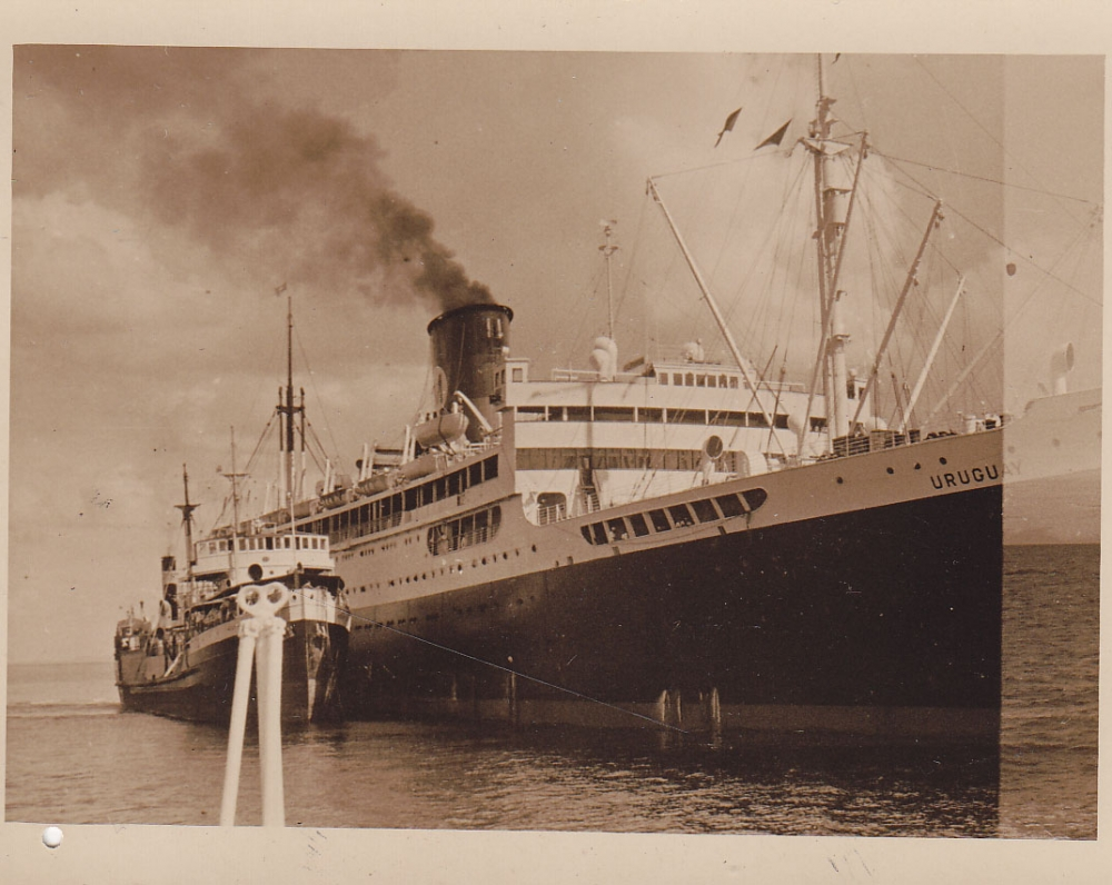 Laivas jūroje. Brazilija, apie 1946–1950 m.