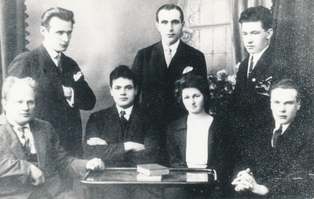 Lietuvos universiteto Literatų būrelio valdyba. 1926 m.