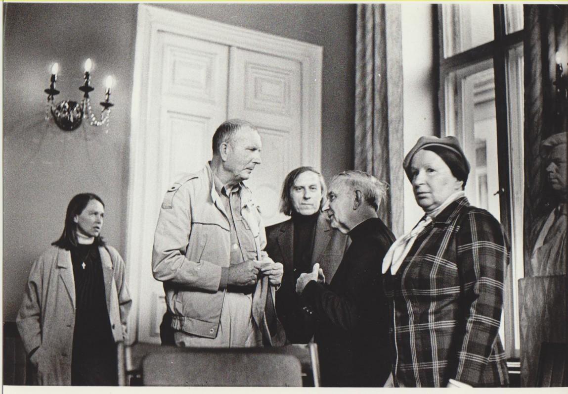 M. Kontrimaitė, R. Lankauskas, J. Juškaitis, L. Andriekus, D. Juškaitienė. Vilnius, 1989 m.