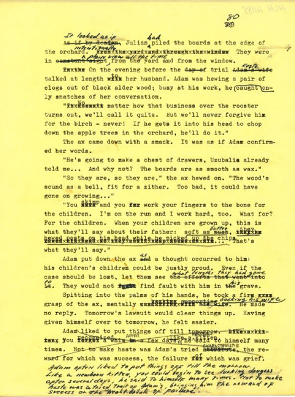M. Starkaus vertimo mašinraštis su taisymais