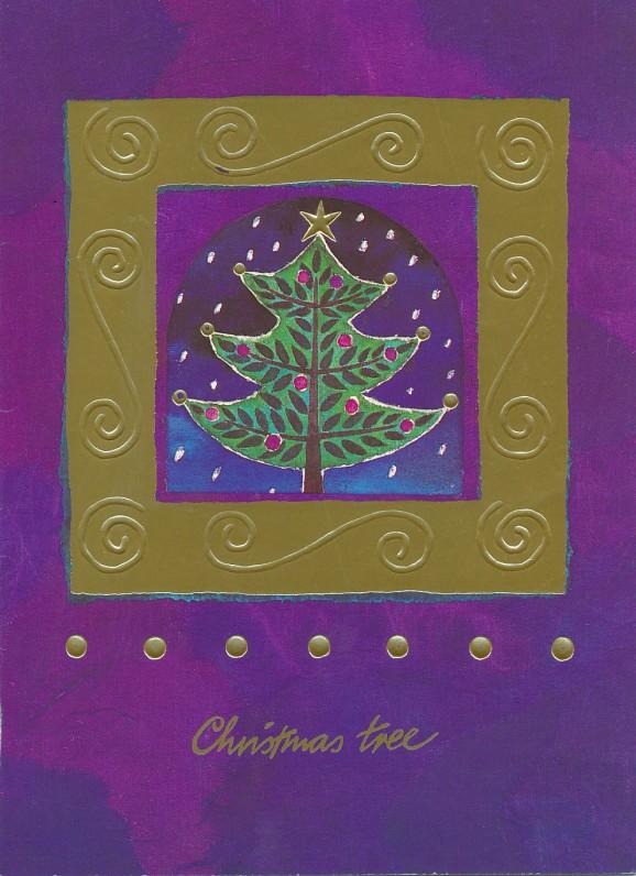 M. ir K. Barėnų Kalėdų ir Naujųjų metų sveikinimas A. Santvarienei. Didžioji Britanija, 1999 m.