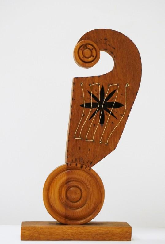 Medinės kanklės, 1967 m. Autorius nežinomas. (Medis, tekinimas, drožyba)