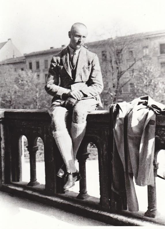 Miuncheno universiteto studentas. 1923 m.