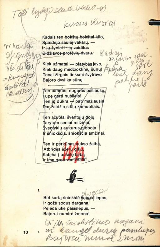 """P. Jurkaus poemos """"Juodvarniai"""" taisymai"""