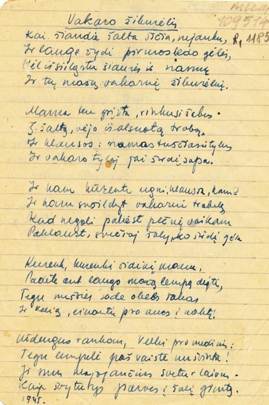 P. Jurkaus rankraštis, 2