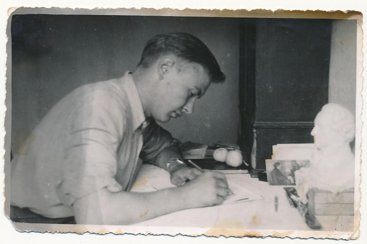 P. Jurkus Žemaičių Kalvarijoje. 1944 m.