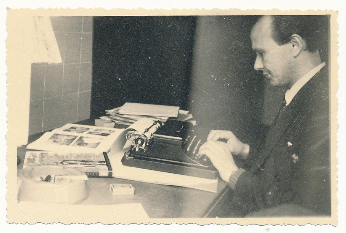 P. Jurkus. Niujorkas, apie 1950 m.