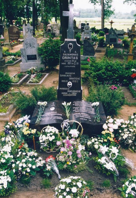 P. Orintaitės kapas Kudirkos Naumiestyje