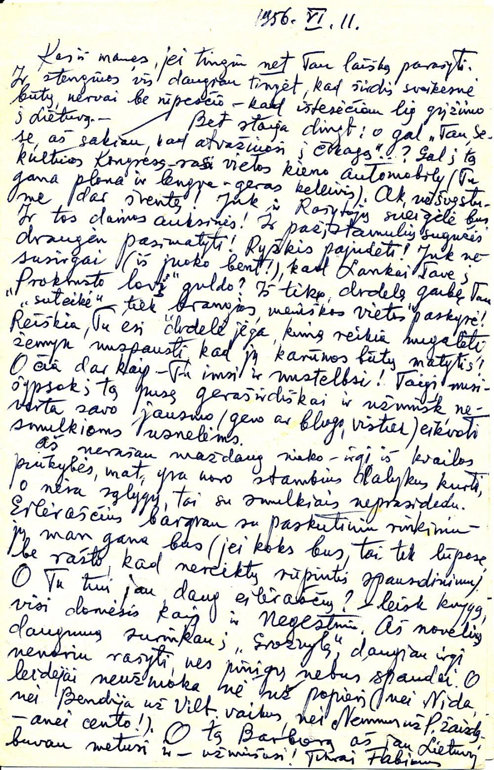 P. Orintaitės laiškas N. Mazalaitei