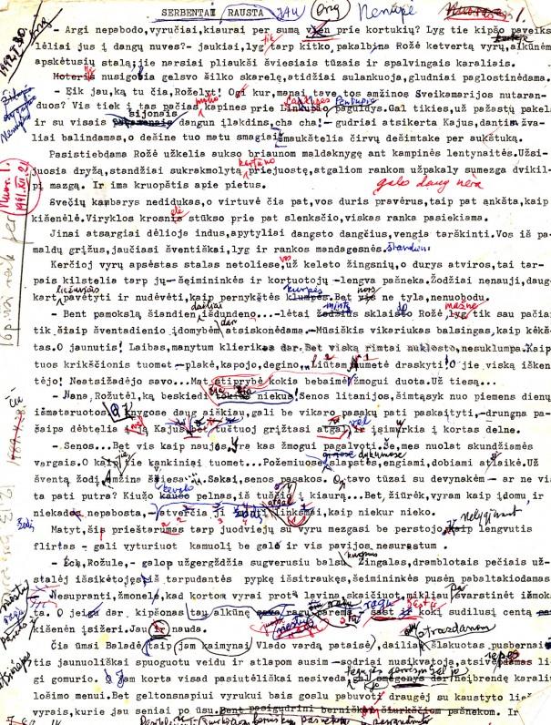 P. Orintaitės mašinraštis su taisymais 2