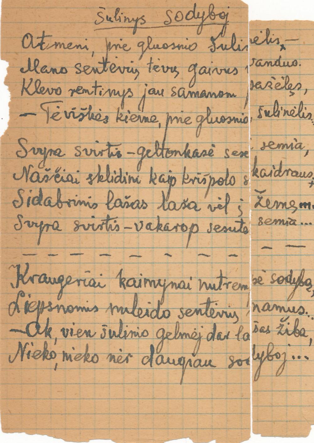P. Orintaitės rankraštis 3
