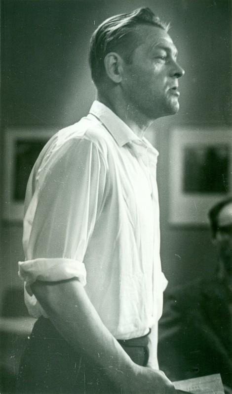 P. Širvys. 1958 m. susitikime su skaitytojais. A. Sutkaus nuotrauka